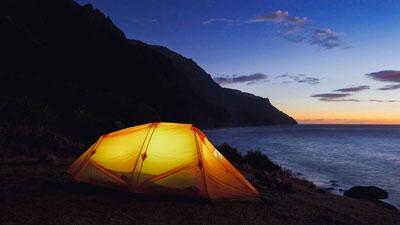 Melhores praias para acampar